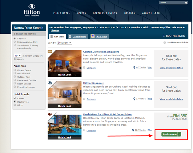 Apart from its fabulous deals and offers Hilton also provides its customers with special Hilton promo codes. It is very simple to use a Hilton promo code. When searching for a room's availability on the dates and preferences page you will be asked for a Hilton voucher. Simply enter the code .