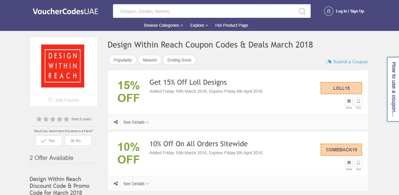 Design within reach coupon code