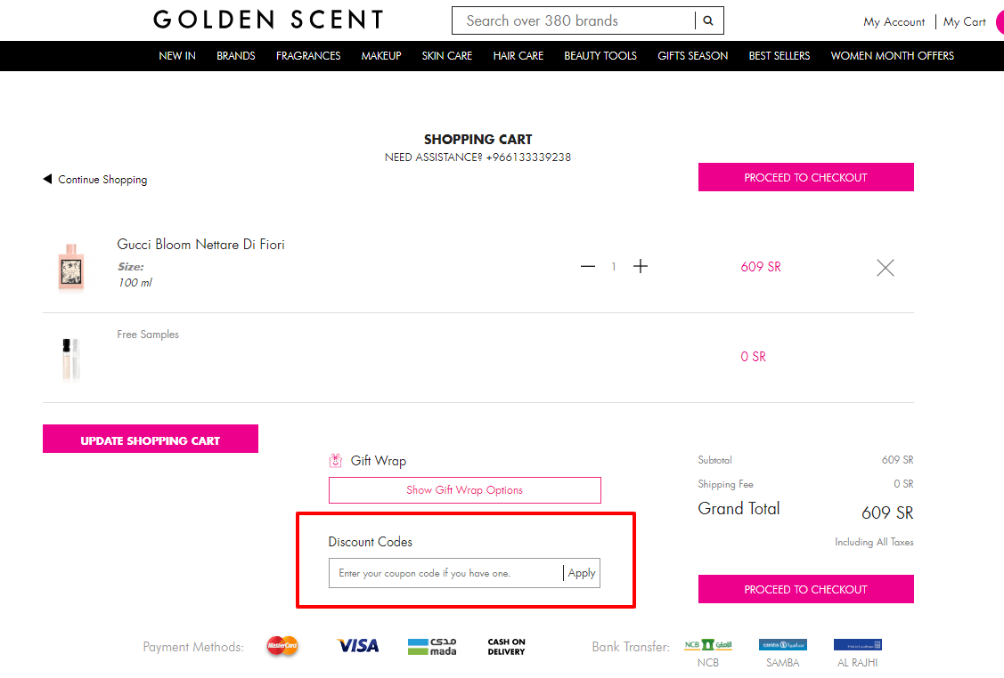Use Golden Scent Coupon Code