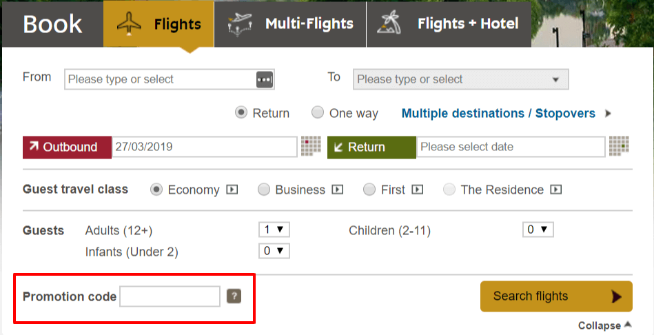 Copy Etihad Coupon Code