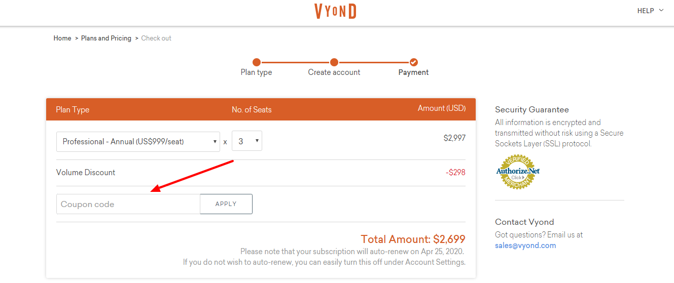 Copy Vyond Coupon Code