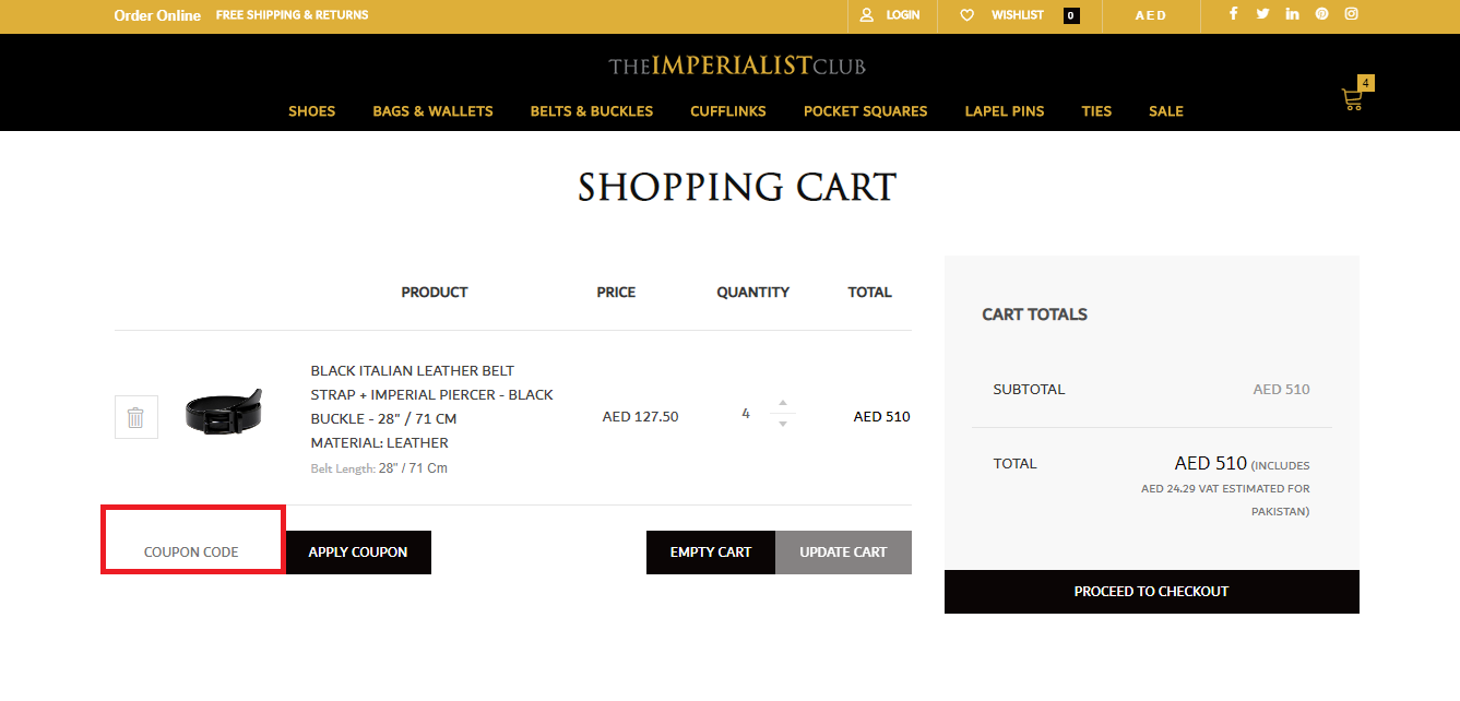 Use The Imperialist Club Coupon Code