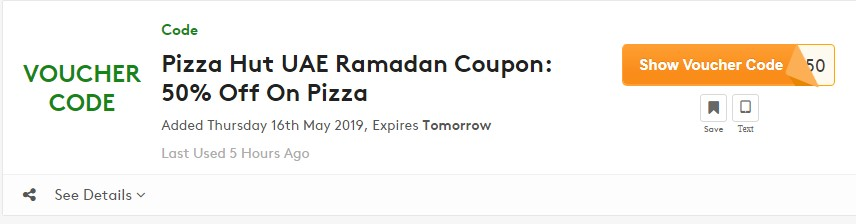 Get Pizza Hut UAE Coupon Code