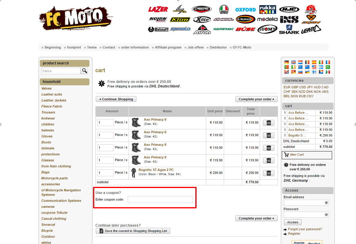 Use FcMoto Coupon Code