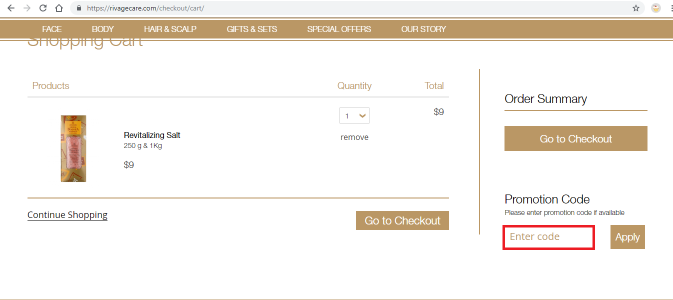 Apply Rivage Coupon Code